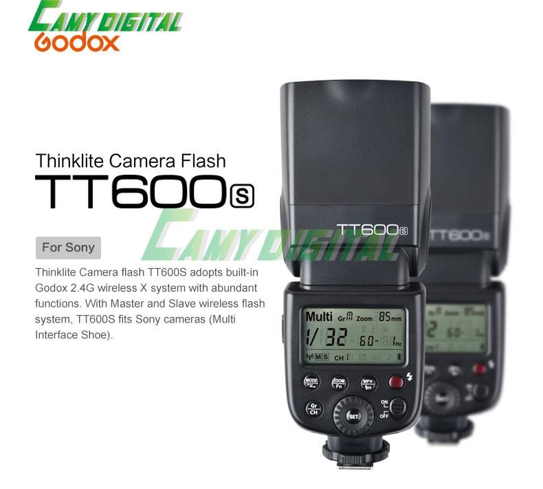 ФОТО Godox TT600S 2.4G GN60 Wireless Flashgun Speedlite For Sony Camera a7II/a7/a7r/a7s/A6000