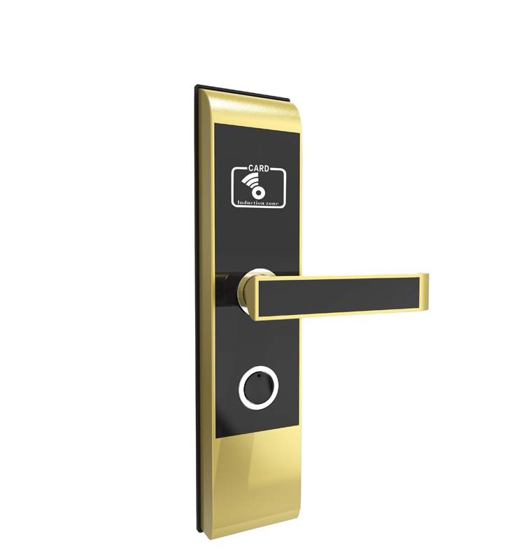RFID T5577 hotel lock, hotel lock system, sample comes with a test T5577 card,Zinc alloy forging ,sn:CA-2019 rfid t5577 hotel lock hotel lock system sample comes with a test t5577 card