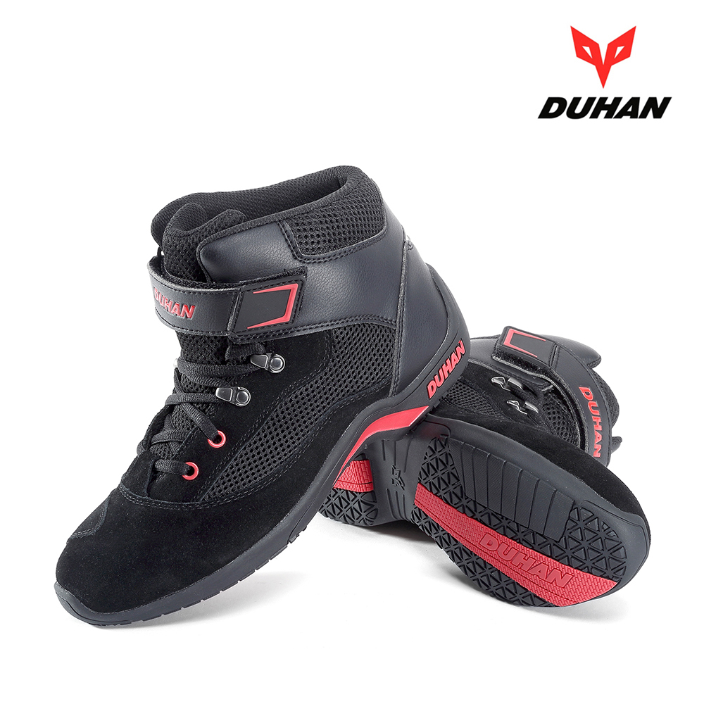 Duhan New 4 Seasons Boots Suede Motorcycle Racing Boots