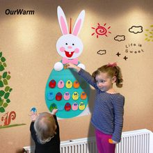 OurWarm DIY Felt Craft Rabbit Easter Decoration Number Educational Puzzle Preschool Game Home Kids Room Birthday Party Decor(China)