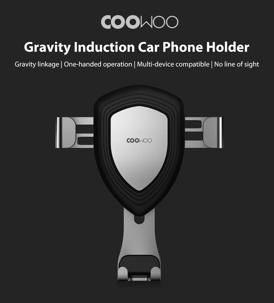 Xiaomi Mijia COOWOO Smart Car Bracket with Gravity Sensor One-handed Operation Multi-device Compatible Air Outlet Clip Holder (1)