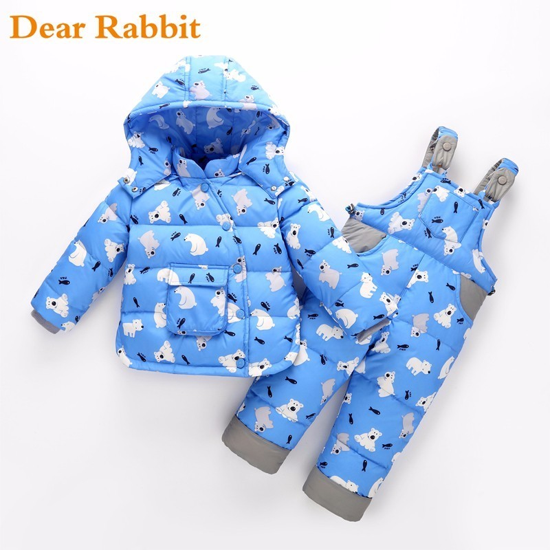 2019 winter children clothing sets duck down jacket pants-jacket hooded baby boy clothes girls warm coat Polar bear pattern kids2019 winter children clothing sets duck down jacket pants-jacket hooded baby boy clothes girls warm coat Polar bear pattern kids