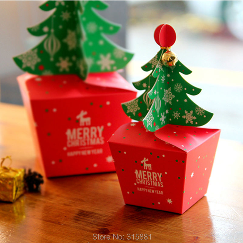 Image 5 - Merry Christmas tree Gift Box ,Cookie Cholocate Food Paper Boxes,Christmas Apple Box, Christmas Gift Box 30pcs/lot-in Gift Bags & Wrapping Supplies from Home & Garden