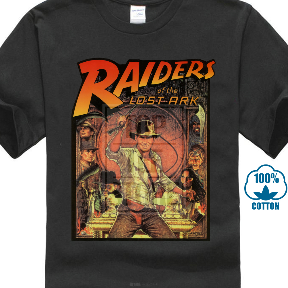 Raiders Of The Lost Ark T Shirt Indiana Jones 80 S Cult Movie Film Birthday T Shirt Summer Famous Clothing
