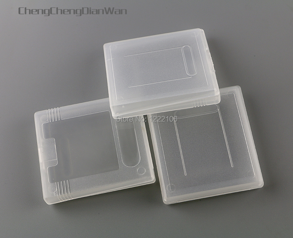 ChengChengDianWan 20pcs/lot hard clear plastic cases Game Cartridge Cases for gbp gb gbc Games Card Cartridge Newest image