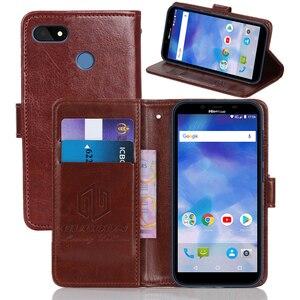 Винтажный чехол-бумажник GUCOON для Hisense Infinity F17 Pro из искусственной кожи, Классический чехол-книжка, стильные магнитные чехлы