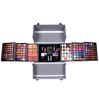 MISS ROSE 5 color big size Aluminum Case Cosmetic Case makeup artist special makeup box eye shadow makeup eyeshadow palette