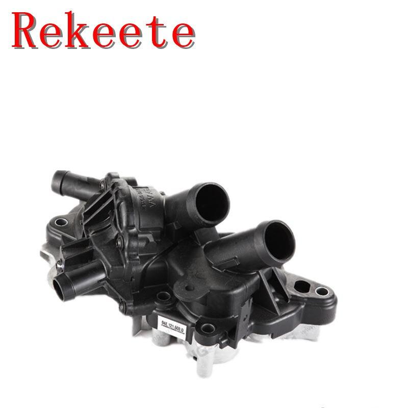 1 pièces Auto système de refroidissement thermostat pour VW Golf MK7 Polo Jetta AUDI A1 A3 pompe à eau moteur 4-Façon EA211 1.2 /1.4TSI 0E121 042 C