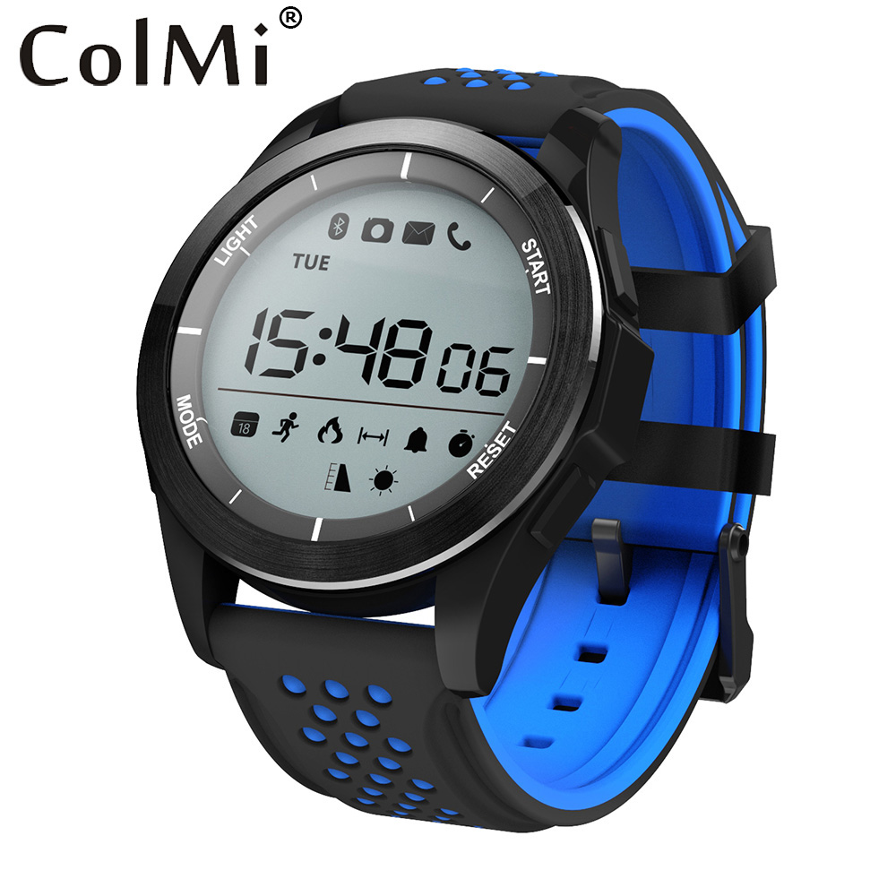 colmi smart watch f3 ip68 waterproof altitude meter thermometer pedometer smartwatch for ios. Black Bedroom Furniture Sets. Home Design Ideas