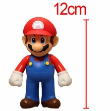 Anime New Super Mario  MARIO Action Figure Toy PVC Action Figure Collectible Toy