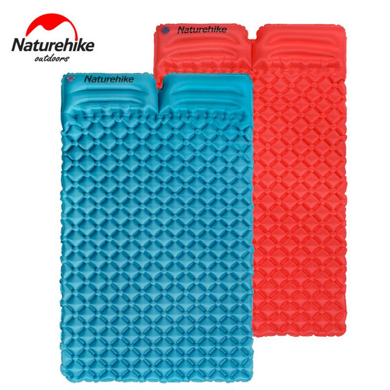 Naturehike Ultralight Inflatable Mattress Air Mat Egg Slot Double Sleeping Pad Outdoor Beach Travel Mat Camping Air Bed durable thicken pvc car travel inflatable bed automotive air mattress camping mat with air pump