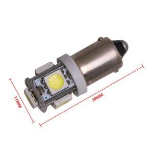 Image 3 - 10PCS T11 BA9S 5050 5 SMD LED Weiß Glühbirne Auto lichtquelle Auto 12V Lampe T4W 3886X H6W 363 hohe Qualität