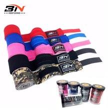 One Pair 5m*5cm Boxing Wraps Cotton Sports Strap Boxing Gloves Bandage Stretchy Muay Thai MMA Taekwondo Training Hand Wraps