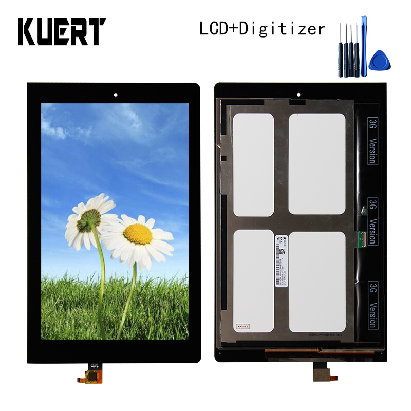 Panel LCD Combo Touch Screen Digitizer Glass LCD Display Assembly For Lenovo Yoga 10 B8080  Accessories Parts  Free Tools lcd screen display digitizer touch panel glass assembly for huawei honor 3c 100% original new white black tools free 3pcs lot