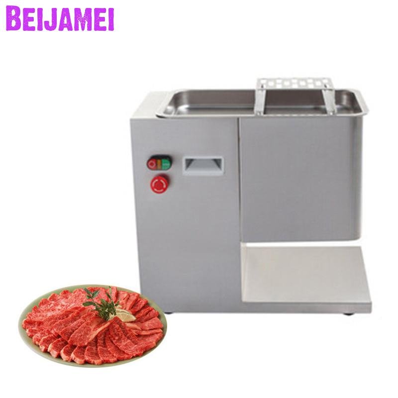 Beijamei Desktop Type Stainless Steel Electric Fresh Meat Slicer Commercial Meat Slicer Cutting Meat Machine