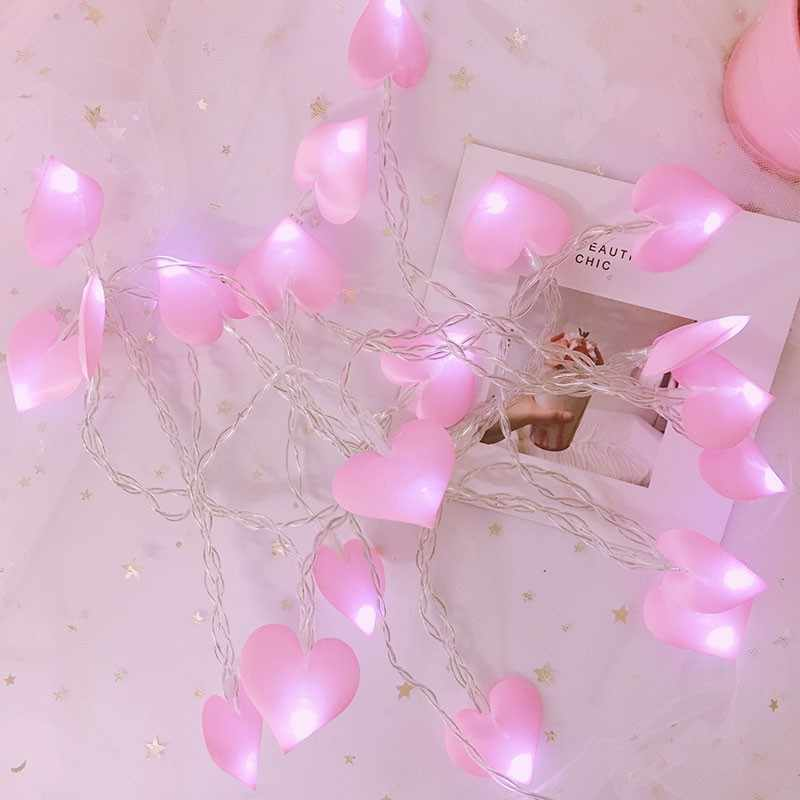 Hearts Garland LED String Light Battery Powered Fairy Lights Decoration For Valentine's day Wedding Room Bedroom Children Gifts