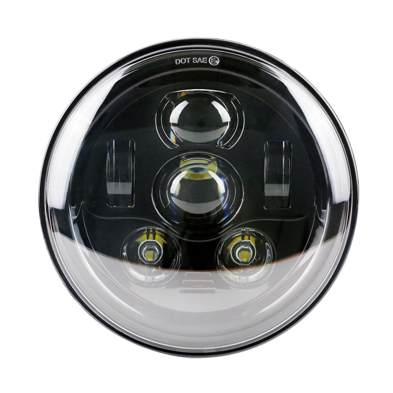 "Harley New 7"" Daymaker Projector Headlamp 6 LED Headlight Round for Harley Electra Street Glide Road King 14-16"