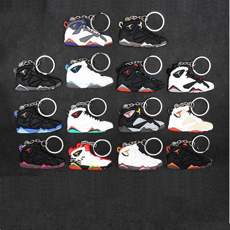 Mini Silicone Basketball Shoe bag Keychain Men women kids hot fashion shoes Stainless Steel Key Ring for men