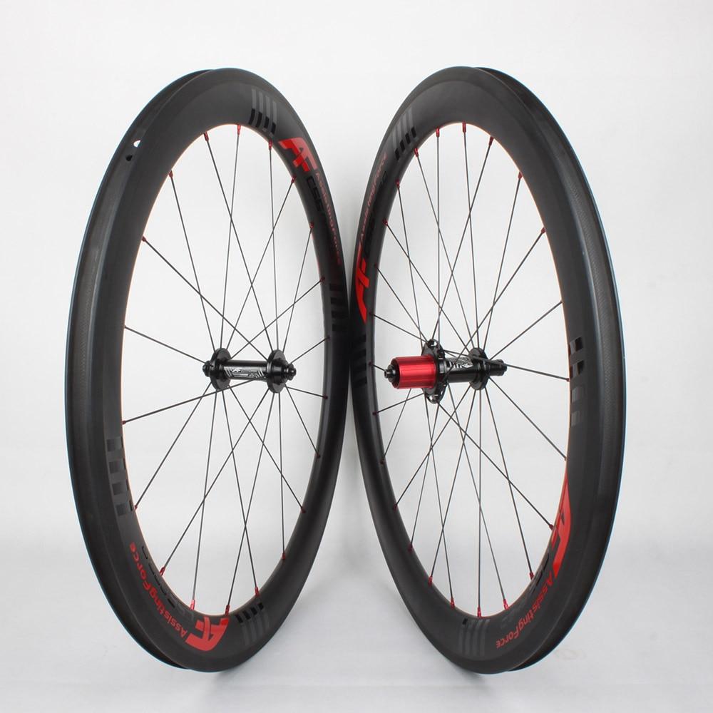 Af 56mm Clincher Tubeless Design Carbon Aero Road Bike Wheel
