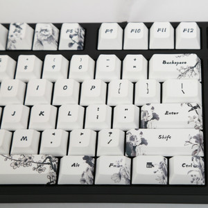 Image 2 - Ink keycap  keycaps 5 Surfaces Dye sub Profile  104 Key ANIS Layout Augment For Standard Mechanical Keyboard Newly Arrival