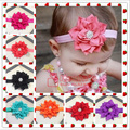 Novo 2017 Do Bebê flor cor sólida crianças cabelo do bebê infantil acessórios hairband cabeça