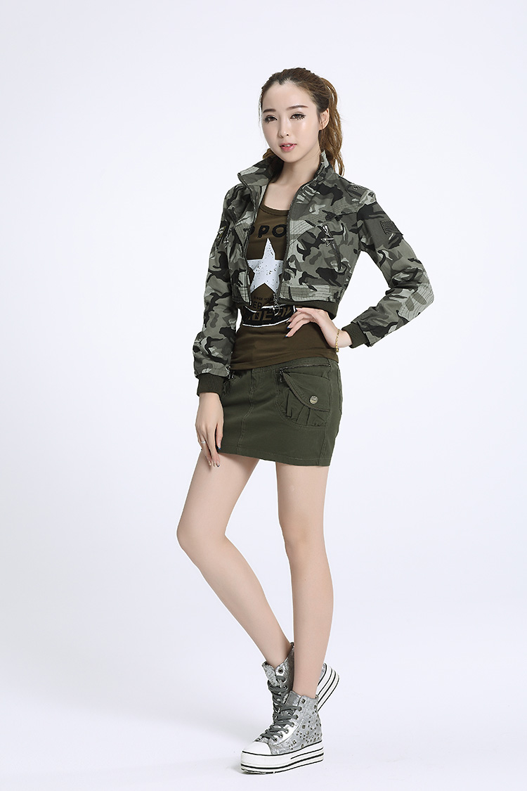 Spring 2017 Short Haircuts: 2017 Women Spring Autumn Short Section Military Jackets