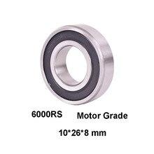 2 pçs/lote 6000RS Rolamento de Esferas Profundo do sulco Rolamentos Do Motor Grau 6000-RS 6000RS 10*26*8mm 10x26x8 Alta Qualidade