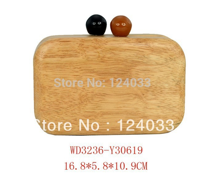 ФОТО 2013 New and fashion style for women shoulder bags with wooden material for party -China factory suplier