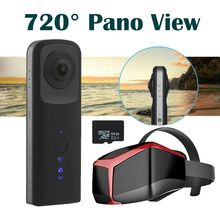 G601 360×210 degree Panoramic VR Camera Dual Lens 960P Digital Video Capture Camera+VR Glasses+64GB Free shipping
