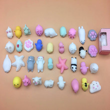 50 шт./лот Kawaii коллекция Squishy Cat игрушки Сожмите Исцеление Детская Игрушка снятие стресса Декор Squishy Cat