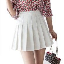 Women high waist pleated skirt Sweet Cute Girls Dance Mini Skirt