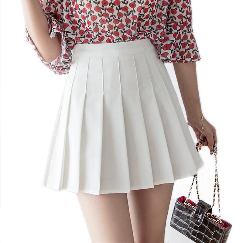 Women High Waist Pleated Skirt Sweet Cute Girls Dance Mini Skirt Cosplay Black White Skirt Fashion Female Mini Skirts Short
