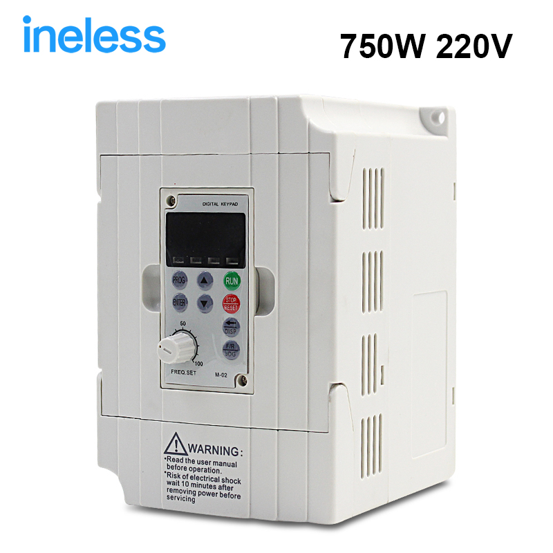 VFD Inverter Free Shipping Frequency Transformer 220V 0.75KW 750W Used Converter Frequency Converter vfd110cp43b 21 delta vfd cp2000 vfd inverter frequency converter 11kw 15hp 3ph ac380 480v 600hz fan and water pump