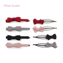 "3"" Classical Solid Hair Bow Baby Hairpins Simple Design Baby Hair Clips Cute Baby Bow Long Hairpins Korea Baby Hair Accessories(China)"