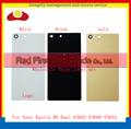 For Sony Xperia M5 Dual E5603 E5606 E5653 Back Housing Rear Cover Case Battery Door With Adhesive Black White Gold+Tracking Code