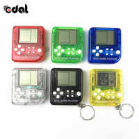 Classical Game Tetris Electronic Mini Cyber Machine Education Toys For Kids Game Keychain Gifts toys color random