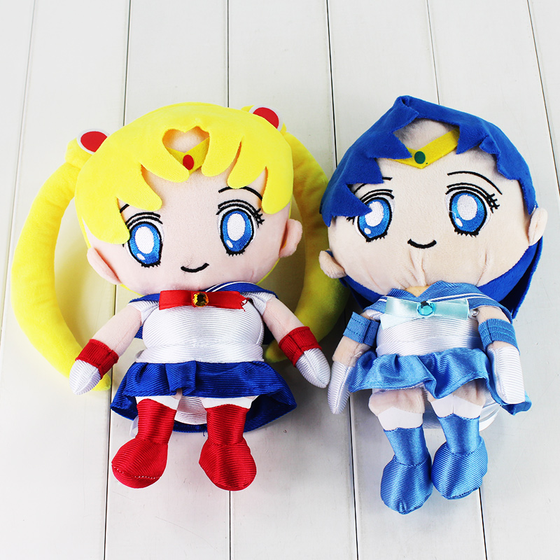 Hot 27cm Sailor Moon Sailor Mercury Stuffed Plush font b toy b font Great gift for