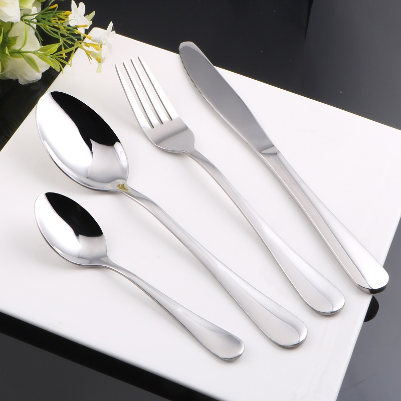 BERGLAND Stainless Steel Tableware Tea Coffee Cake Icecream Dessert Dinner Soup Steak Knife Fork Cutlery Set Dinnerware Set