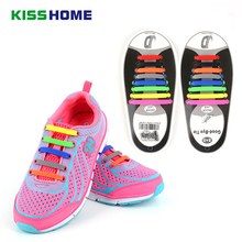 16Pc/Set Unisex Women Men Athletic Shoes Lazy No Tie Shoelaces Elastic Silicone Shoe Laces Shoestrings All Sneakers Fit Strap new 1 set 12 pcs shoelaces unisex elastic silicone laces mens womens all sneakers fit belts sports canvas pu shoes accessories