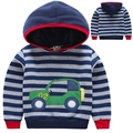 Top Quality Spring Boys Sweatshirts Casual Kids Sport Hoodies for 2-7 Years Baby Children Clothes Cotton Striped Kids Boy Hoodie