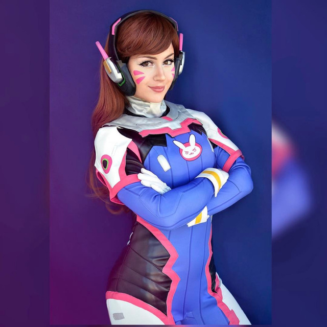 Watch Over D.va Sexy Costume Lycra Spandex Bodysuit Armor Dva Hana Song  Weapon Headset Cosplay Props One Set 039fee22a770