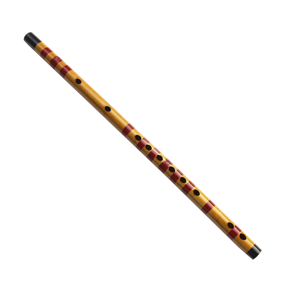 Professional 47cm Flute Bamboo Flute Vertical Flute Clarinet Student Musical Instrument Wooden Color Musical Instrument Student