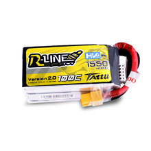 Tattu R-Line версии 2,0 1550 mAh 100C 4S 15,2 V высокой Напряжение LiHV Lipo Батарея XT60 Plug 250 Размер 3D FPV Racing Drone Quadcopter(China)