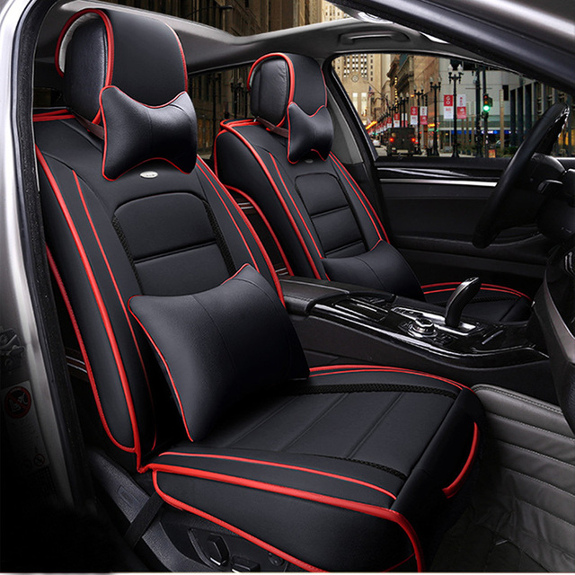 Front Rear Luxury Leather Car Seat Covers For Jeep Grand Cherokee Wrangler Patriot
