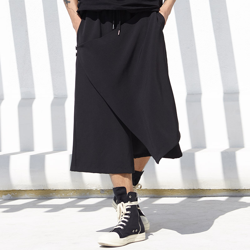Trousers Skirt Dark-Style Gothic Pant Harem Loose Male Streetwear Japan Casual Fashion