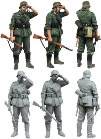 <font><b>1</b></font>/<font><b>35</b></font> <font><b>Resin</b></font> Figure <font><b>German</b></font> Infantryman 1pc <font><b>Model</b></font> Kits image