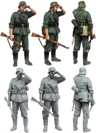 1/35 Resin Figure German Infantryman 1pc Model Kits