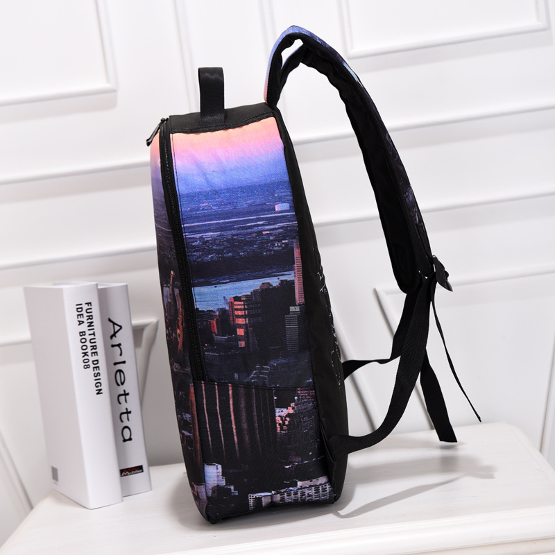 2015 New Personality Spray Chart Tall Backpack Super Cool Space And  Building Printing Rucksack 3d Stylish Comfortable Zipper Bag In Backpacks  From Luggage ...