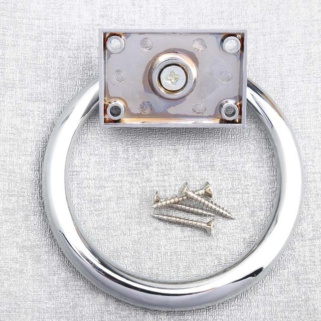 Anéis de prata redondo maior queda aldrava de porta cromados Quadrados de madeira cadeira sofás modernos móveis puxadores alças puxa maçanetas