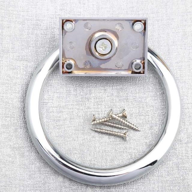 Grandes anillos de la gota de plata brillante redonda golpeador de puerta del cromo Cuadrado de madera silla sofás muebles manijas manijas manijas perillas moderno
